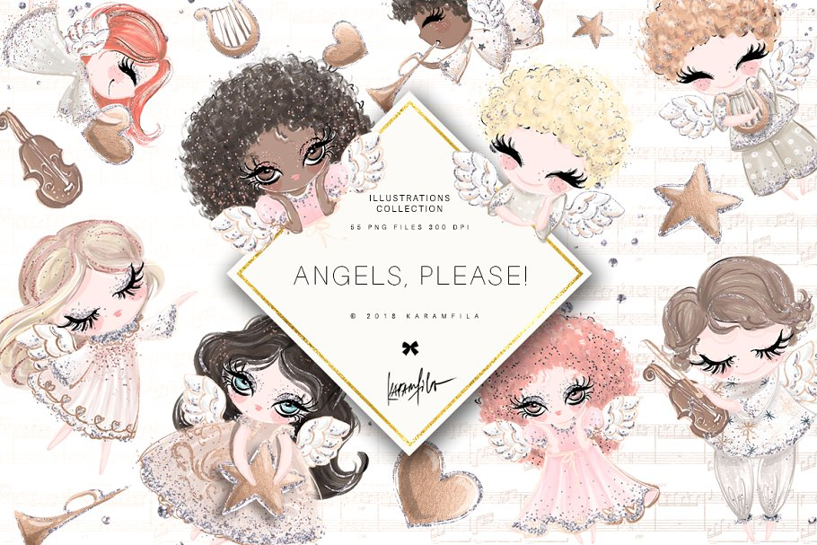 Angels Clipart.