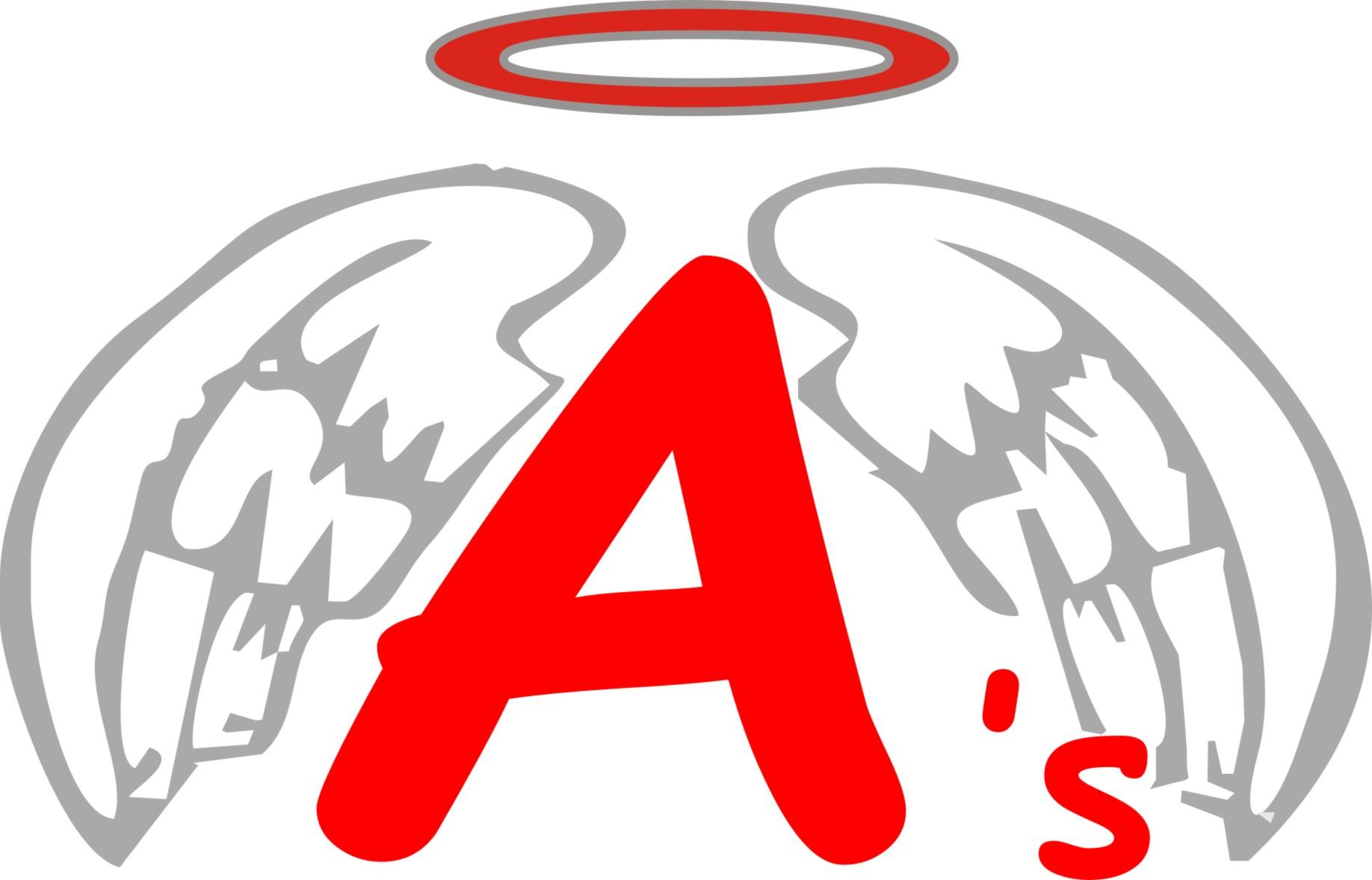 Angels Baseball Clipart.