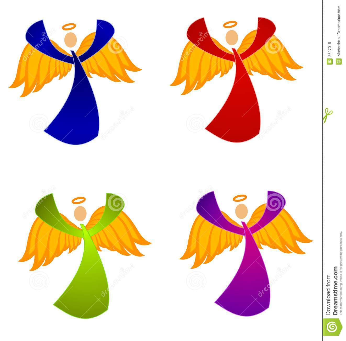 African American Angel Free Clipart.