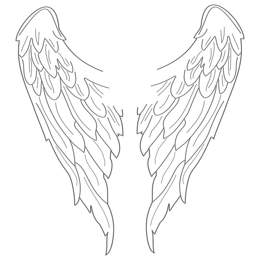 Free Angel Wings Drawing, Download Free Clip Art, Free Clip.
