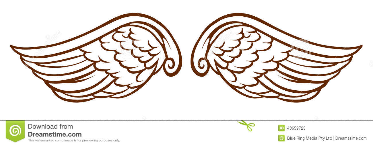 Simple Angel Wings Drawing at GetDrawings.com.