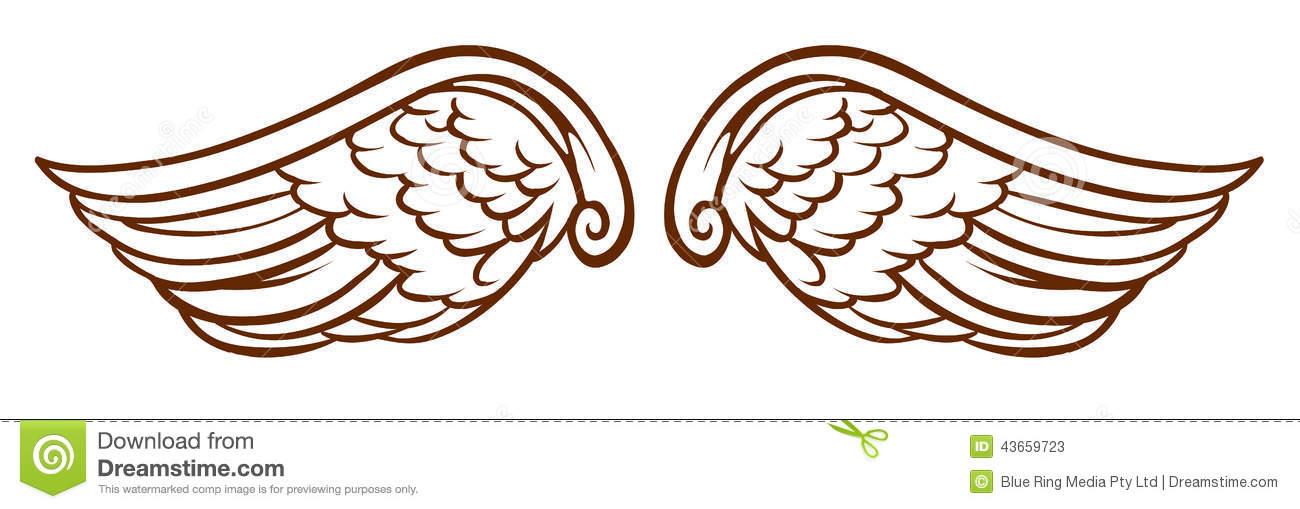 Simple Angel Wings Drawing at GetDrawings.com.