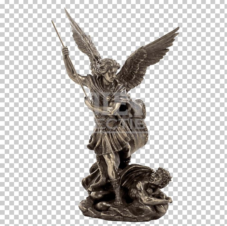Saint Michael Fighting The Dragon Cherub Archangel PNG.