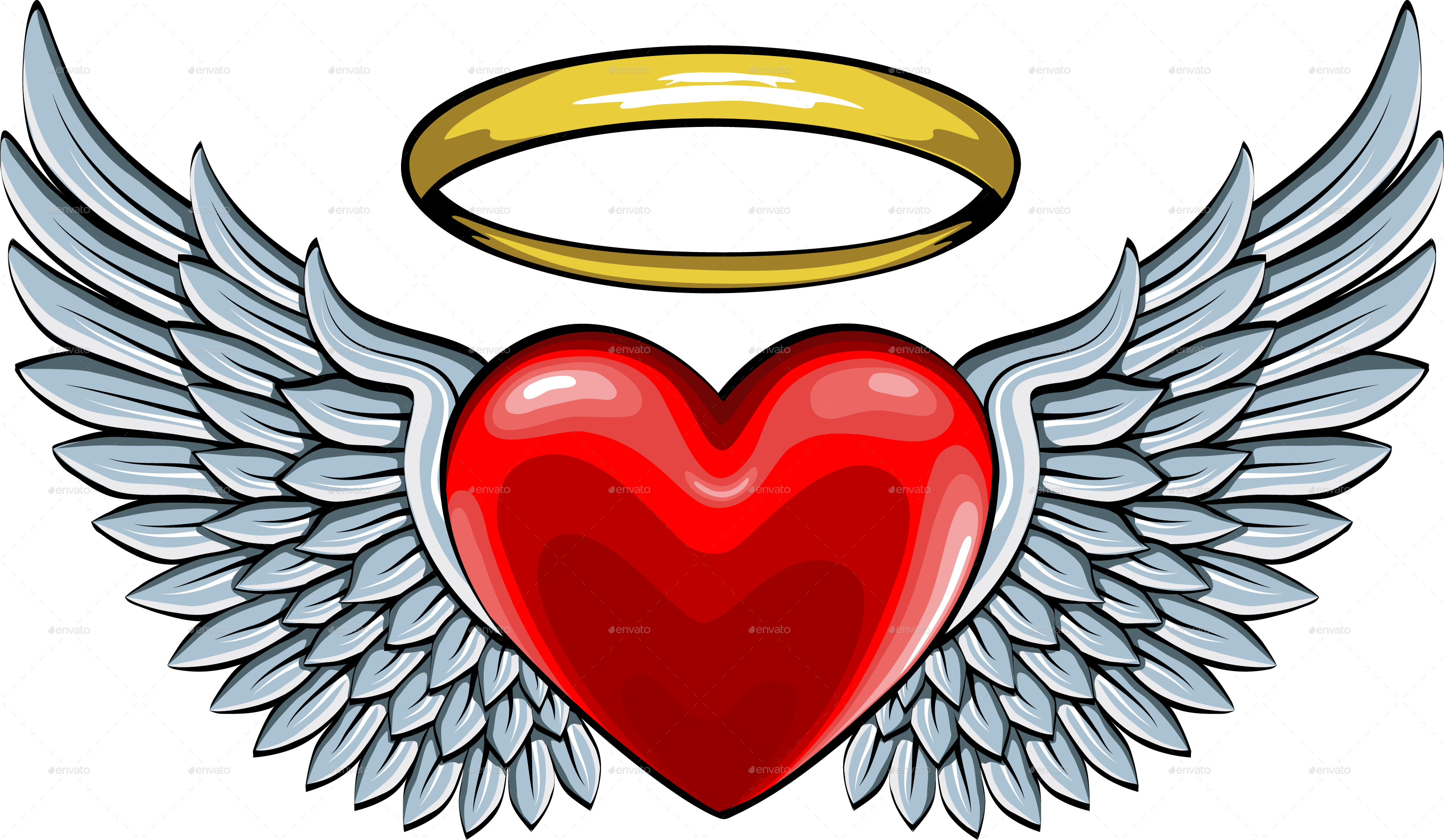 Angels hearts clipart Transparent pictures on F.