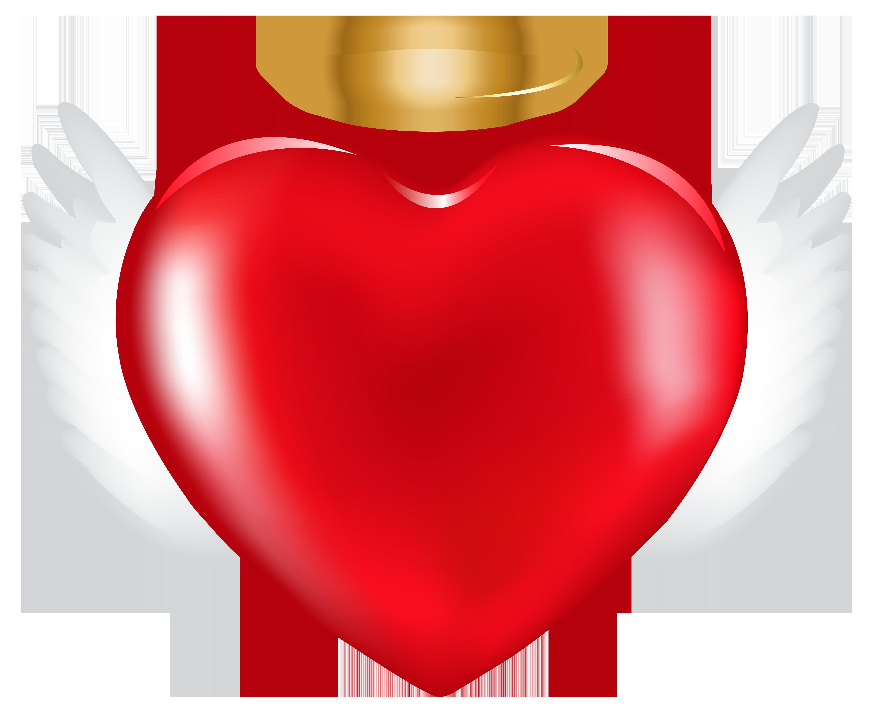 Angel Heart PNG Clip Art Image.