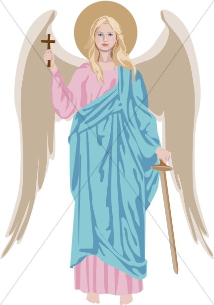 Standing Angel Clipart.