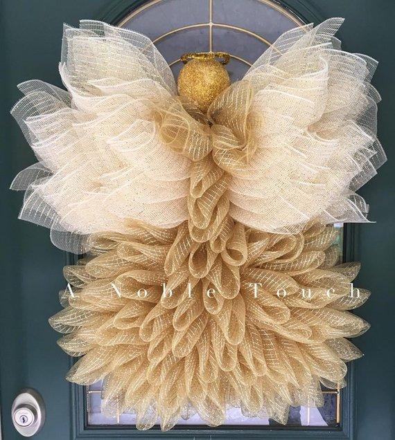 Angel Wreath Tutorial, DIY Angel, How to Make an Angel.