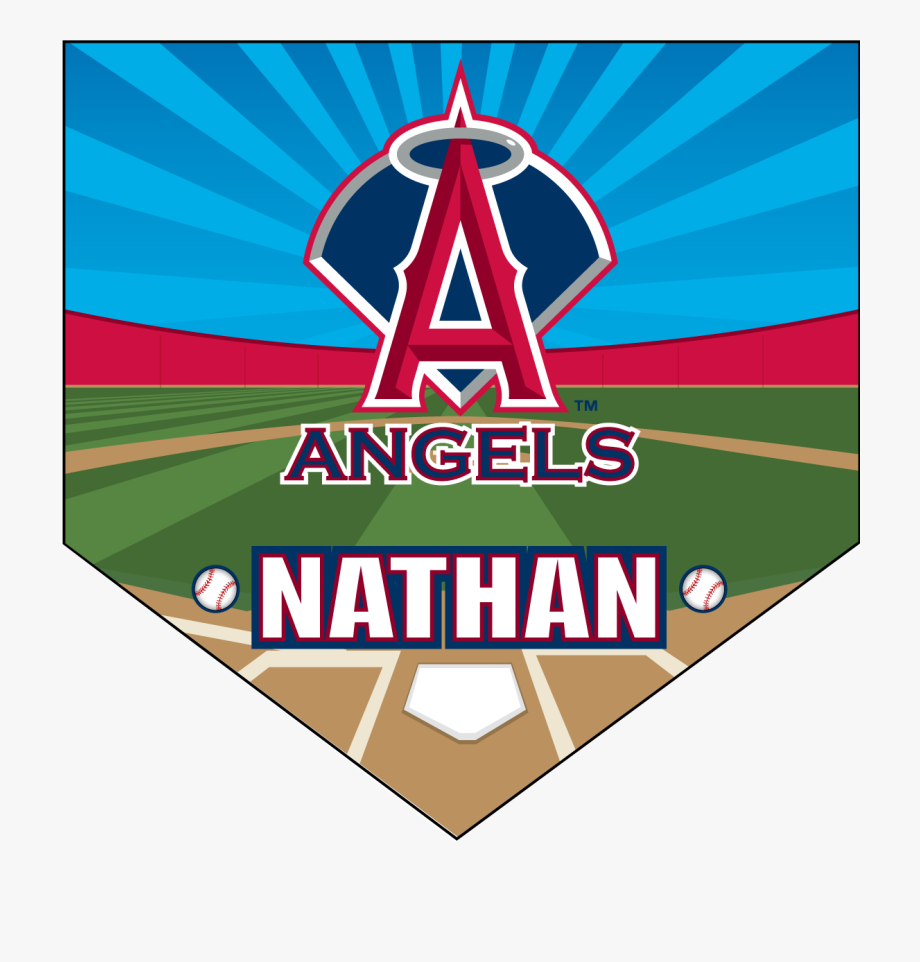 Angels Home Plate Individual Team Pennant.