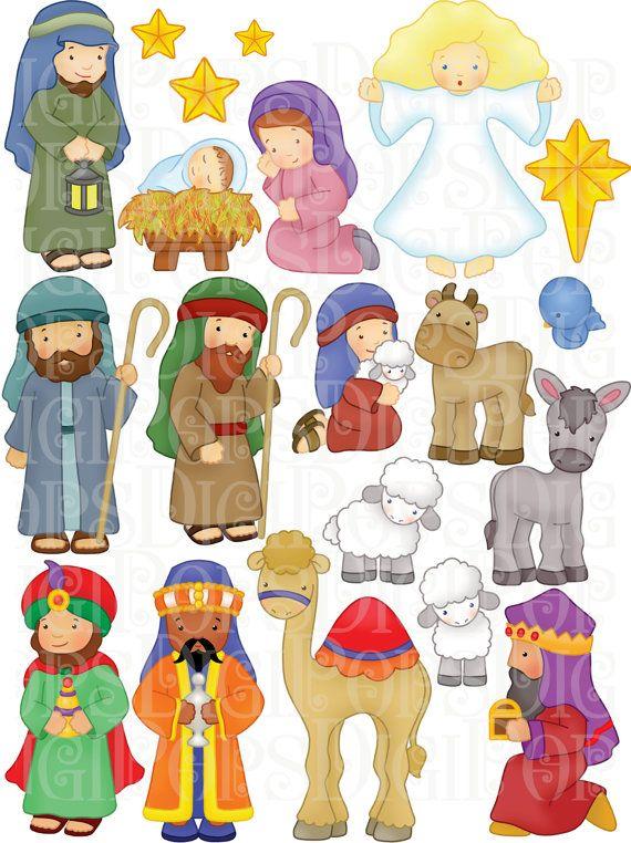 1396 Nativity Scene free clipart.
