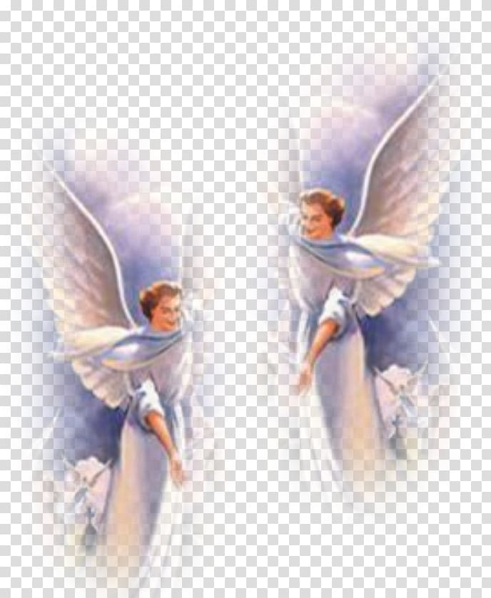 Two angels illustration, Guardian angel God Prayer Heaven.