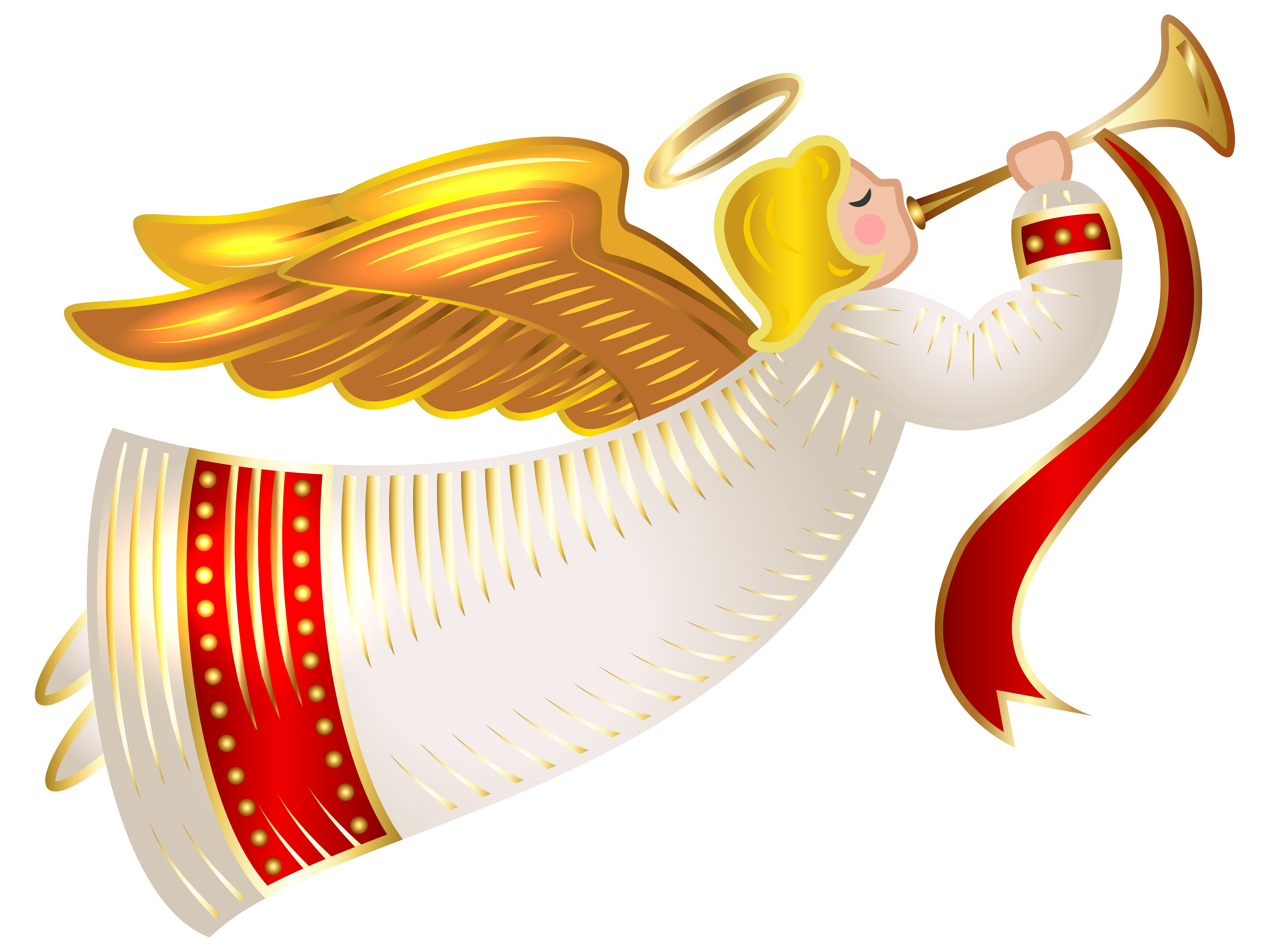 Christmas Angel Cherub Clip art.