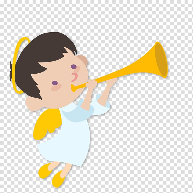 Angel Art name , The little girl of the trumpet transparent.