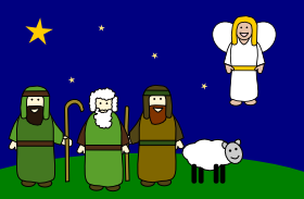 11+ Shepherds And Angels Clipart.