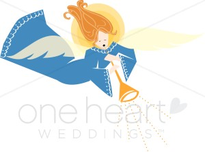 Blue Robed Angel Trumpeting.