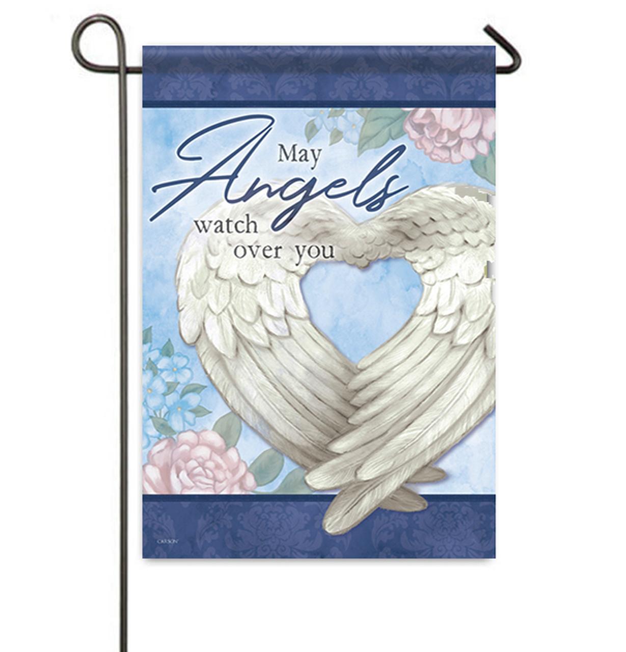 Angels Watch Over You Memorial Garden Flag.