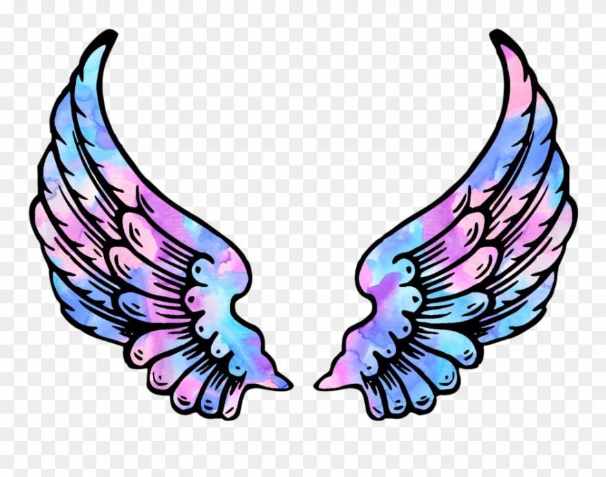 Wings Angel Angelwings Space Galaxy Stars Star Wing.