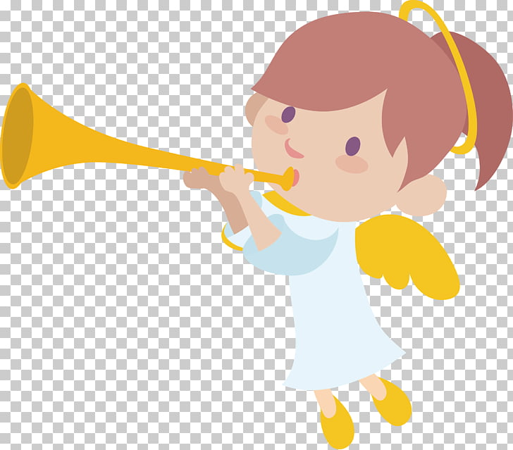 Vecteur Computer file, Angel trumpet PNG clipart.