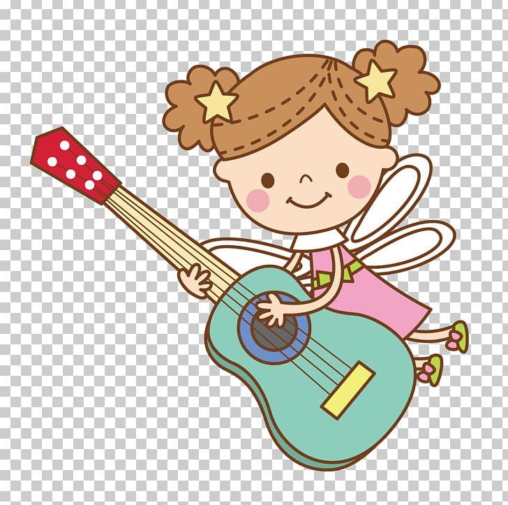 Guitar Cartoon PNG, Clipart, Adobe Illustrator, Angel.