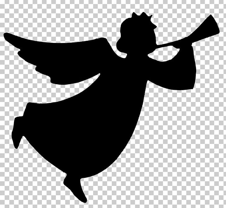 Silhouette Trumpet Angel PNG, Clipart, Angel, Animals.
