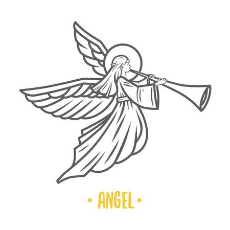 991 Angel Trumpet Stock Illustrations, Cliparts And Royalty Free.