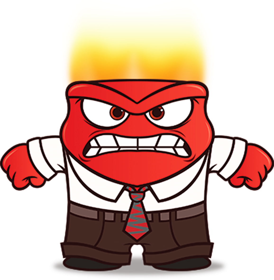 3005 Inside Out Anger Clip Art , Height 8 cm, decal sticker.