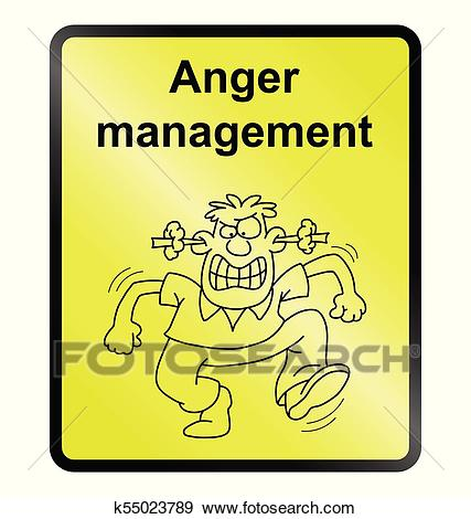 Anger Management Information Sign Clip Art.