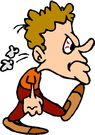 Anger Management Moving Clipart.