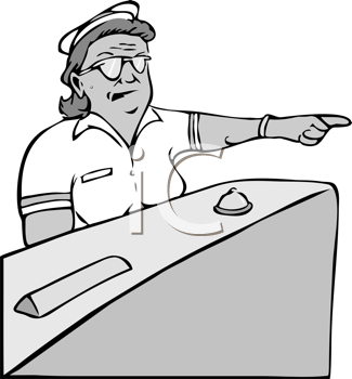 Royalty Free Clipart Image of an Angry Nurse Pointing.