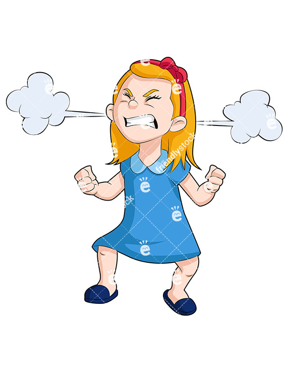 Steam Coming Out Of Ears Clipart.