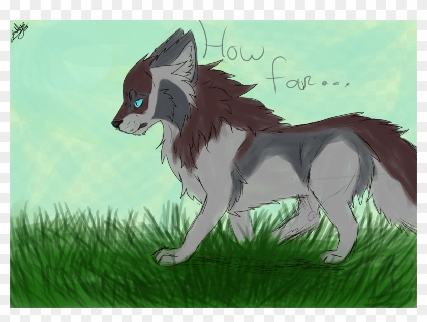 Speedpaint Drawing Cartoon Wolf Transparent Clipart.