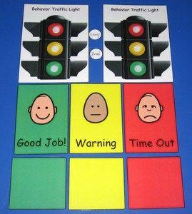 Behavior Traffic Light Chart & Card Set Poster for office.