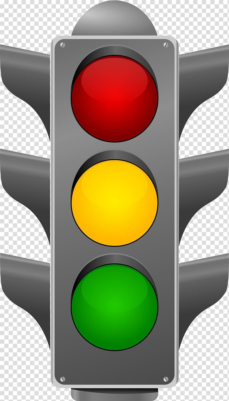 Gray traffic light illusttration, Traffic light Road.