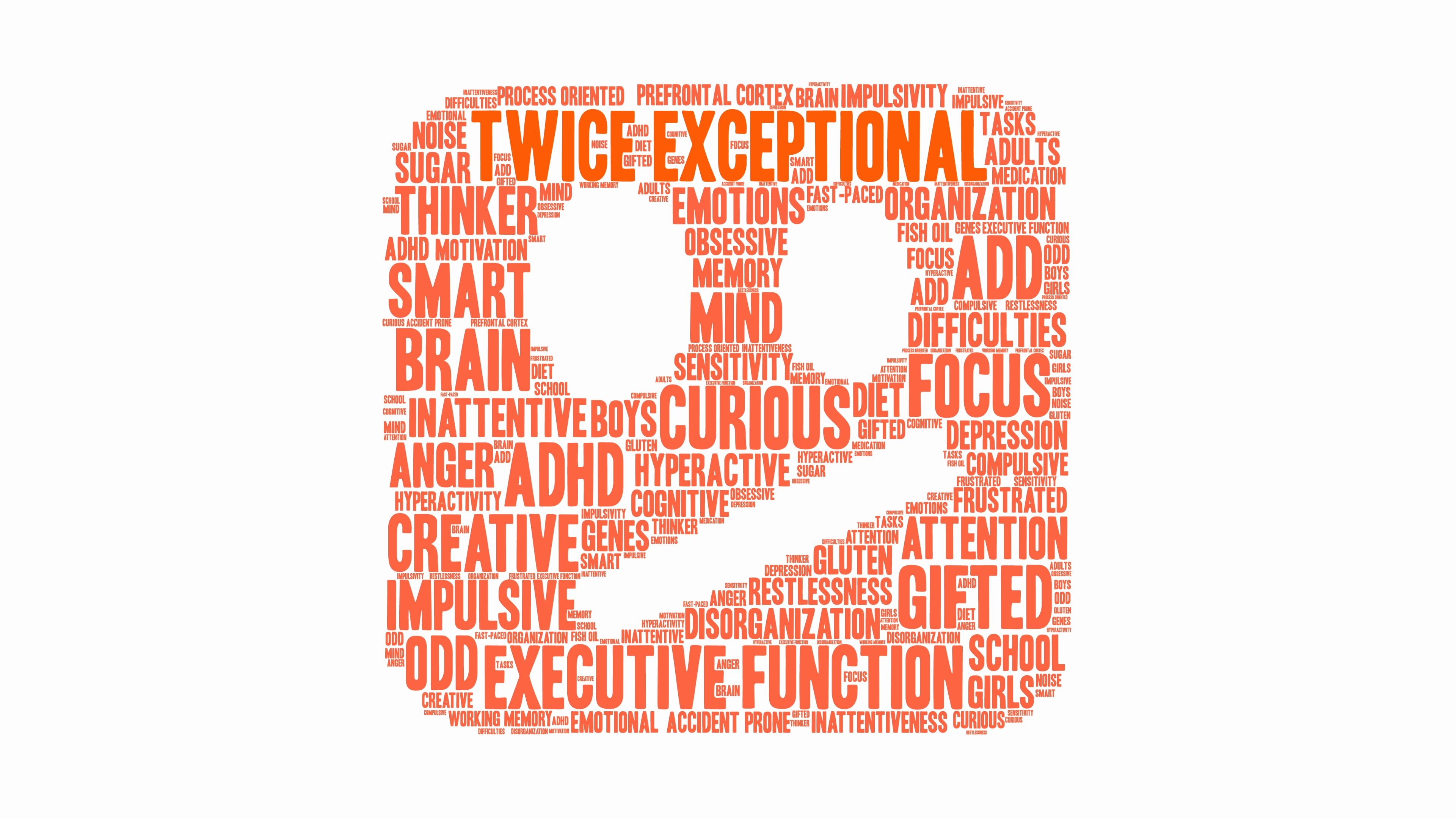 Twice Exceptional Word Cloud ~ Stock Video #88829930.