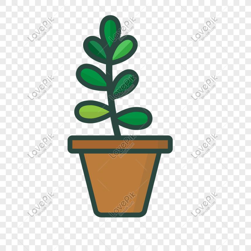 ilustrasi vektor pot tanaman gambar unduh gratis_ Grafik.