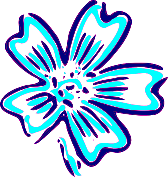 Blue Orchid Clip Art at Clker.com.