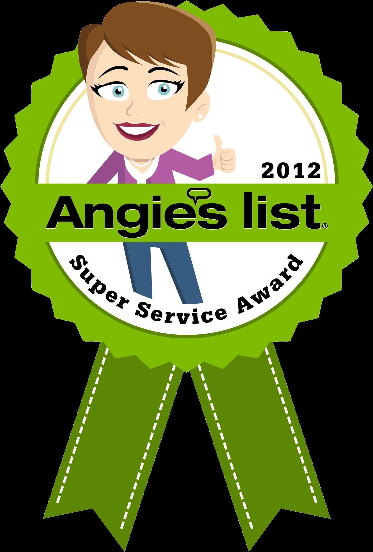 2011 Angie\'s List Award Winner 2012 Angie\'s List Award.