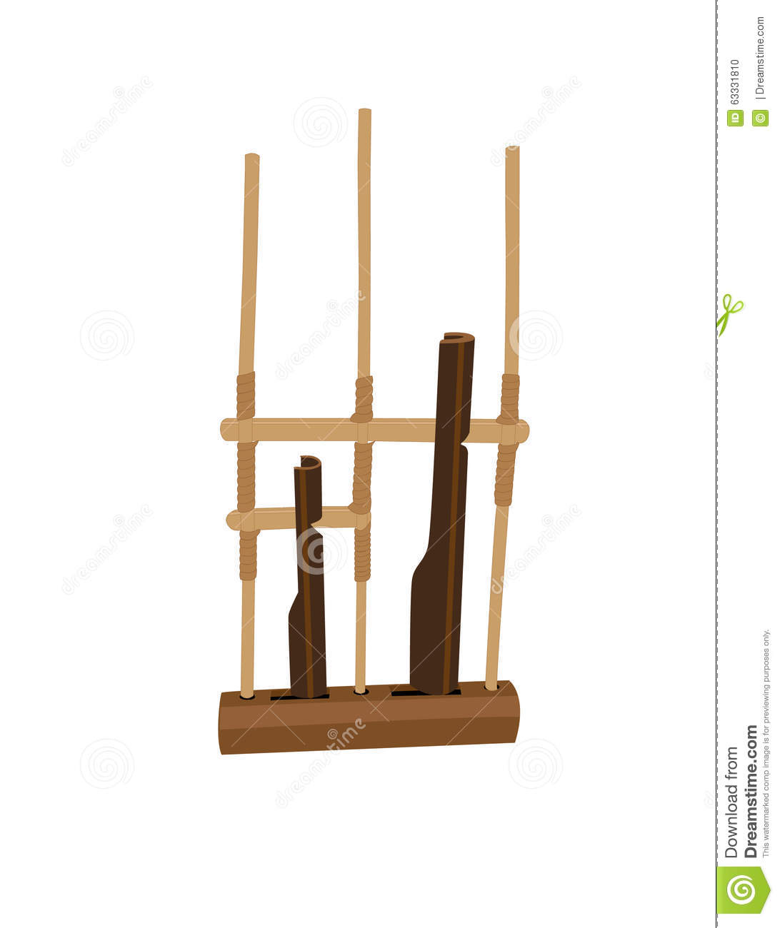 Angklung Indonesian Traditional Music Instrument Stock Photo.