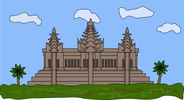 Angkor wat clipart #3