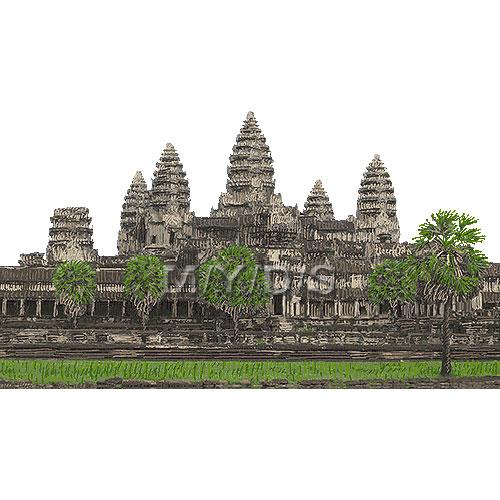Angkor Wat, Angkor Vat clipart / Free clip art.