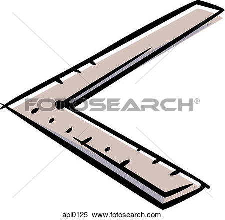 Stock Illustration of A right angle ruler apl0125.