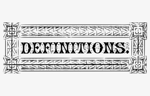 Free Definition Clip Art with No Background.