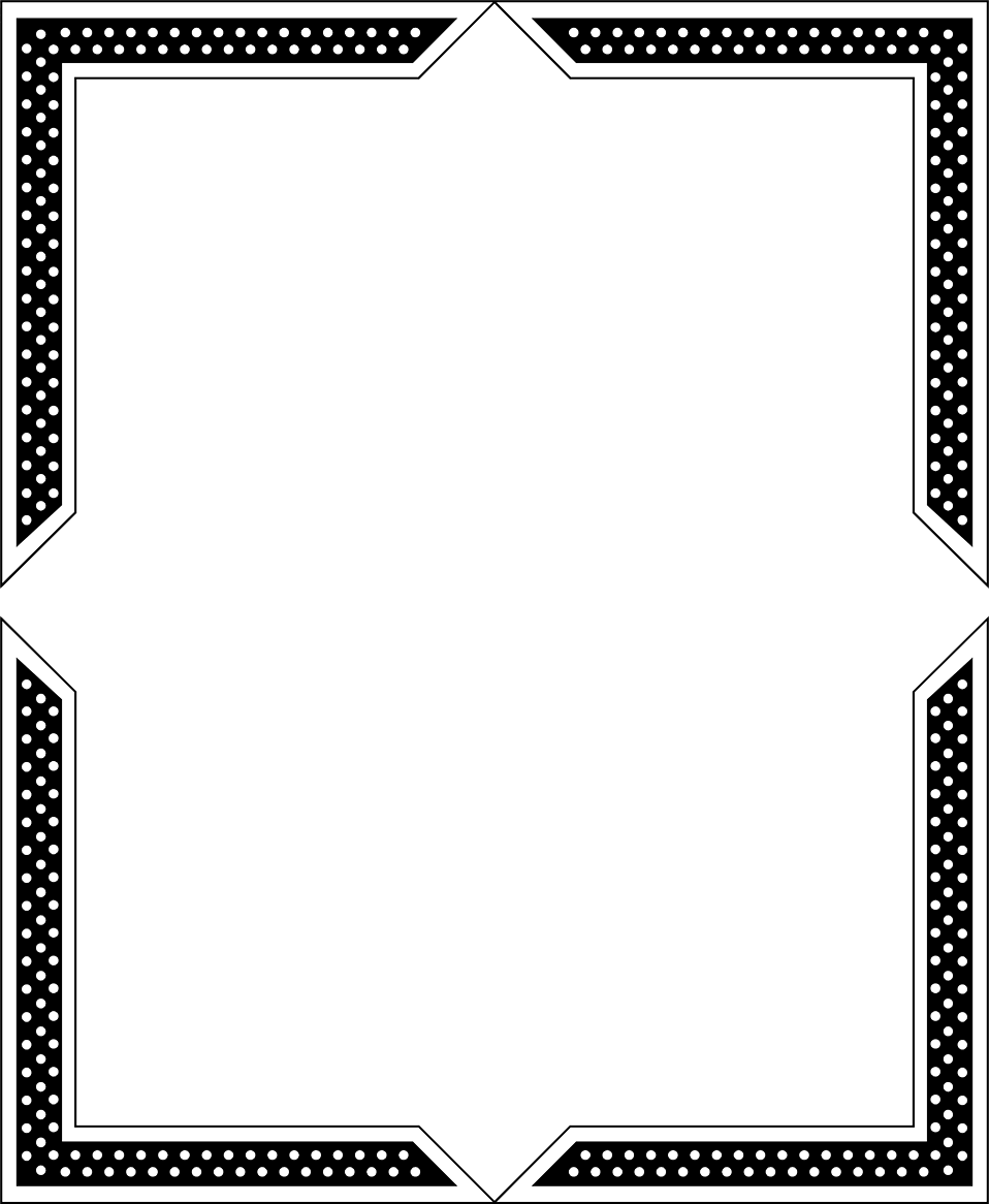 Paper Black and white Picture frame Line Angle.