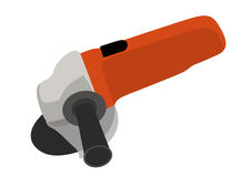 Instrument Angle Grinder Isolated Stock Photo.