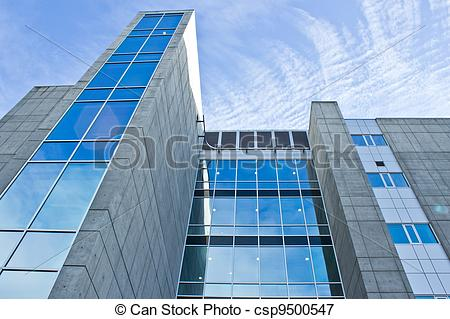 Stock Illustrations of Angle Shot of office Building.