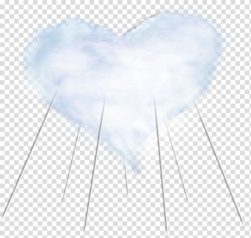 Blue Sky Heart Angle Font, Fixed love clouds transparent.