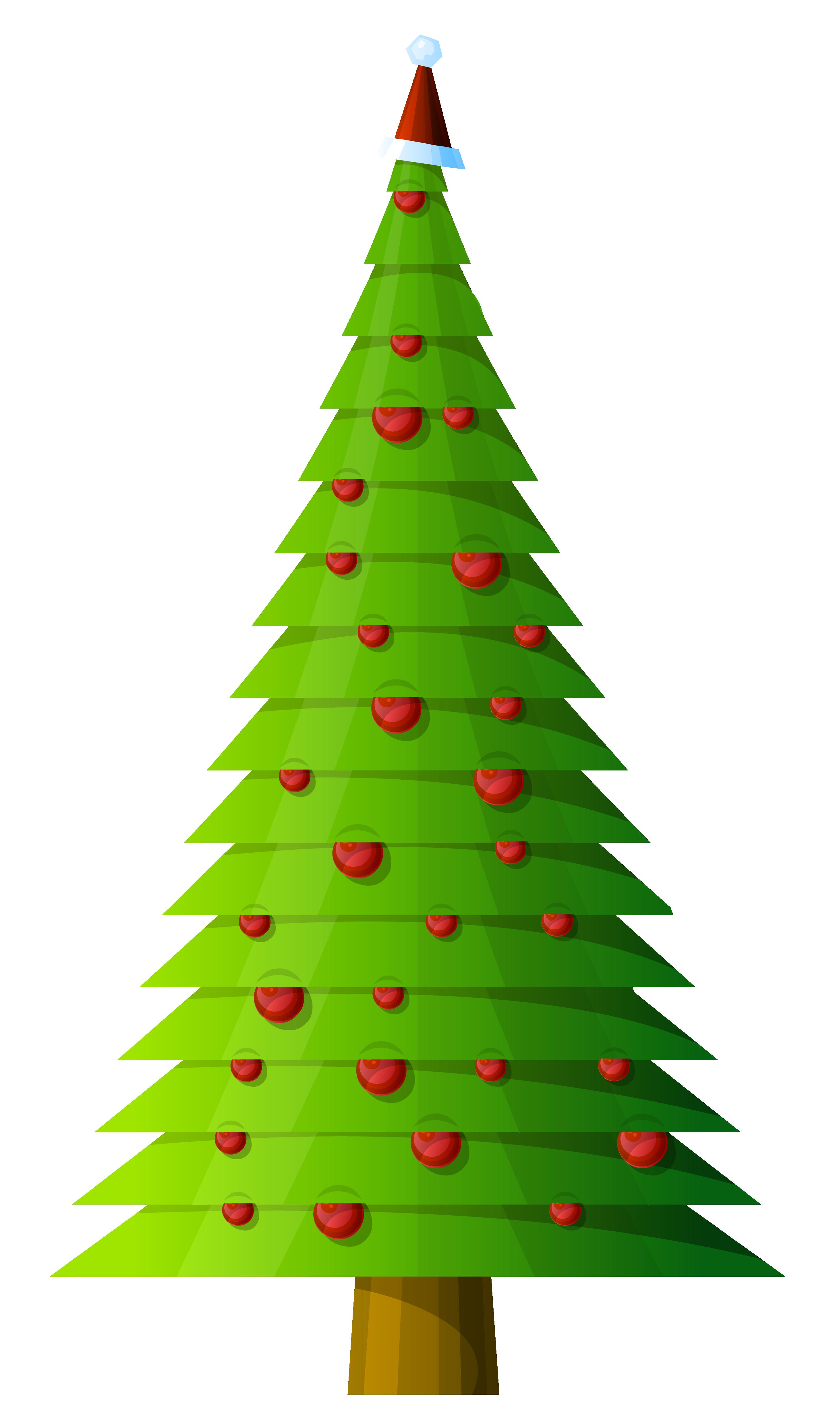 Modern Christmas Tree Clipart.