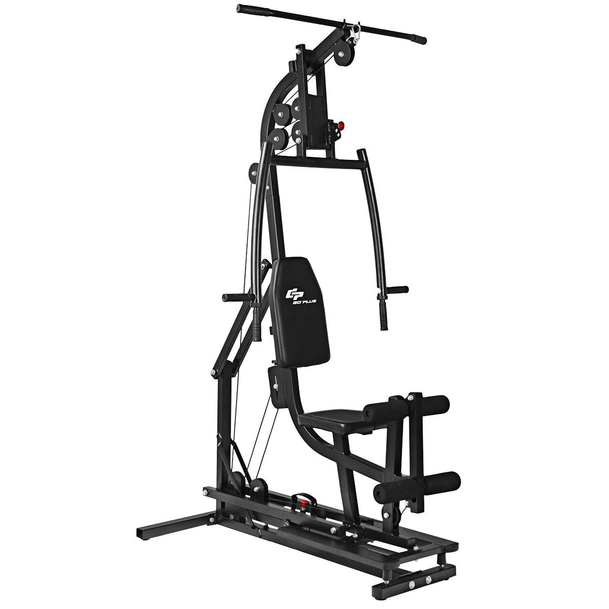 Goplus Multifunctional Trainer Home Gym Station Workout Machine for Total  Body Training Max Load 330LBS.