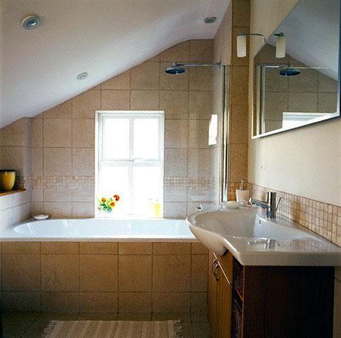 1920s+bathroom+sloped+ceiling.