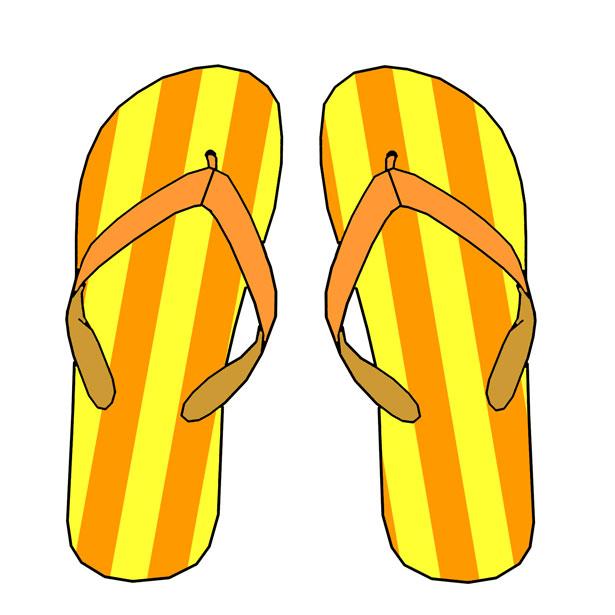 Yellow Flip Flops.