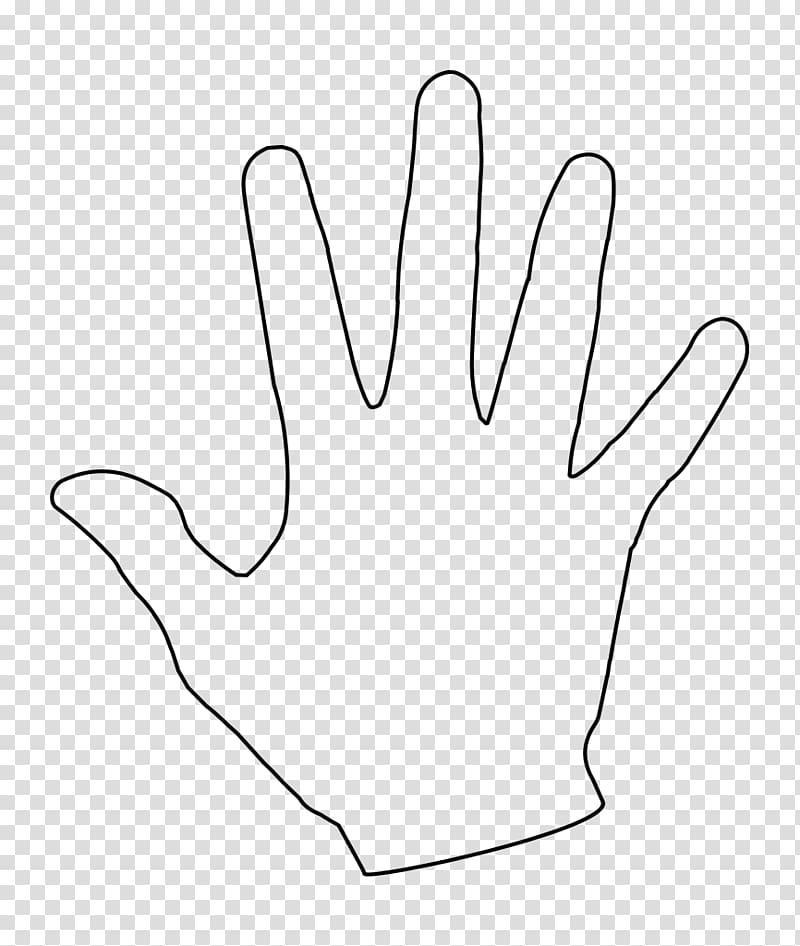 Thumb Line Point White Angle, hand print transparent.